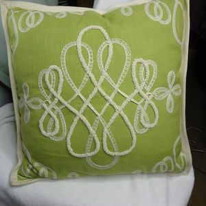 Pier 1 Imports Lime Green Beaded Accent Pillow